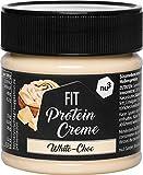 nu3 FIT PROTEIN CREME - Crema Proteica Cioccolato Bianco e Vaniglia 200GR - Crema da Spalmare Proteica 21% Proteine + quasi 90% di Zucchero in Meno - Senza Olio di Palma/Aspartame/Glutine/Conservanti