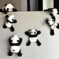 Pu Ran 1Pc Cute Soft Plush Panda Fridge Magnet Refrigerator Sticker Souvenir Decor Gift