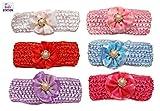 #2: Baby Station Baby Girls Elastic Hairband (Multi Color/Flower)