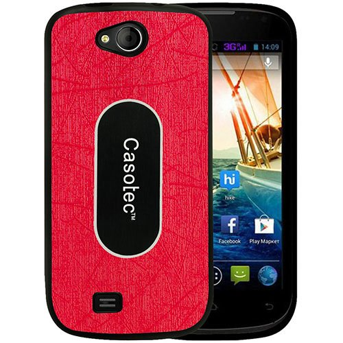 Casotec Metal Back TPU Back Case Cover for Micromax Canvas Elanza A93 - Red  available at amazon for Rs.299