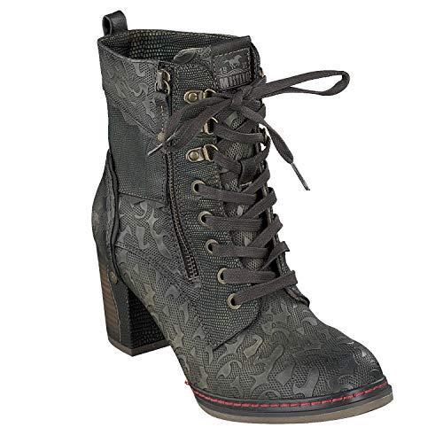 Mustang 1287-506 Schuhe Damen Stiefeletten Ankle Boots, Schuhgröße:41 EU, Farbe:Grün