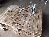 **Design-Tisch aus doppelter Industriepalette**