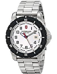 Victorinox de hombre 43mm acero pulsera y funda reloj analógico de cuarzo suizo 241677