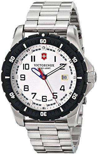 Victorinox Hombre 241677analógico pantalla Cuarzo suizo reloj, color negro y plata