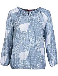 978cd2867413 THEA by Adler Mode Damen Luftige Bluse mit Allover-Druck Große Größen