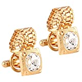 #8: TRIPIN GOLDEN CUFFLINKS WITH CHAIN FOR MEN IN A GIFT BOX