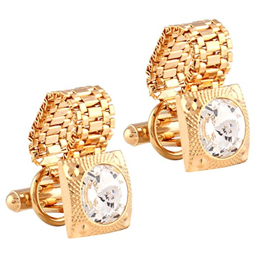 Tripin golden cufflinks with chain for men in a gift box