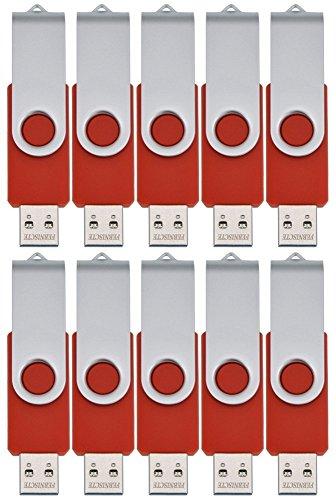FEBNISCTE 10 Stück USB Sticks 512MB (Nicht 512GB) USB Flash Laufwerke - Rot