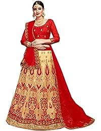 Women'S Beige Color Embroidered Lehenga ASBLA181