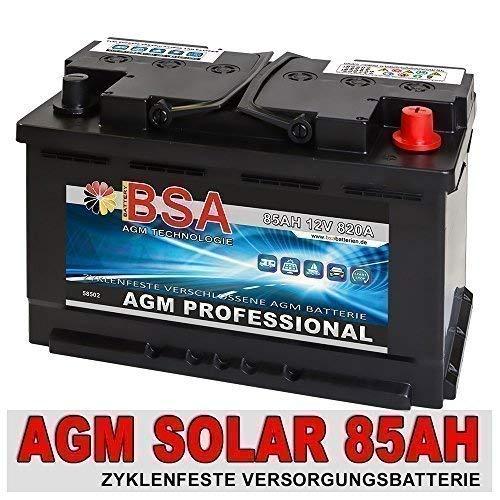85Ah AGM GEL Versorgungsbatterie Solarbatterie Wohnmobil Mover Boot Batterie 90AH