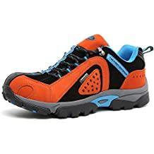 TFO Herren Wasserdichte Trekkingschuhe & Wanderschuhe Anti-Rutsch Bergschuhe & Outdoor Schuhe mit Atmungsaktiver Einlegesohle (Hersteller-Größentabelle im Produktbild Beachten)