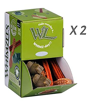 Whimzees Dog Treat, Variety Box, Medium, 24 pack X 2 (48 Treats)