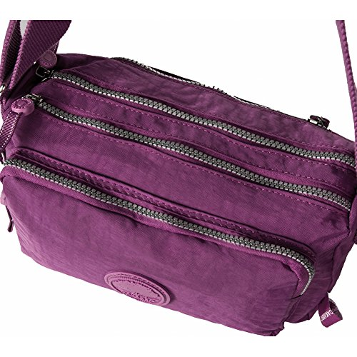 Oakarbo, Borsa a tracolla donna blu 937 Turquoise blue 937 Violet red