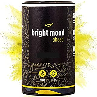 ahead® BRIGHT MOOD | Natural Mood Enhancer with Vit B6 and B12 for Balance and Well-Being* | Supplement with Serotonin Precursors 5-HTP, L-Tryptophan, B-Vitamins and Relaxing Herbs | 90 Vegan Capsules
