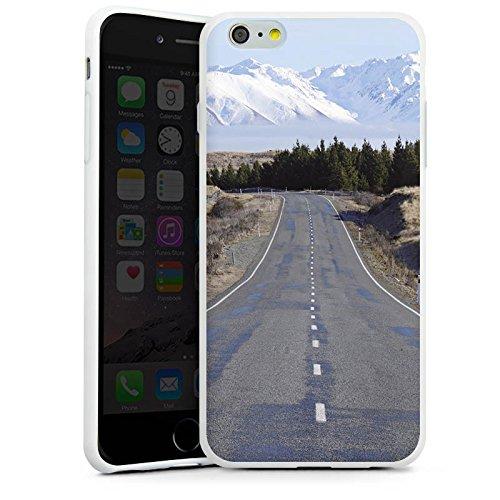Apple iPhone X Silikon Hülle Case Schutzhülle Landschaft Straße Berge Silikon Case weiß