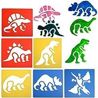 Dinosaurier-Zeichenschablone, Plastiktiere-Malvorlage, Schablonen für Kinder zum Basteln, Abwaschbare Schablone für Schulprojekte von Hongtian Typ A