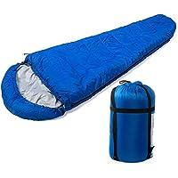 Fineway Saco de dormir cálido con forma de momia, individual, para acampada y viaje