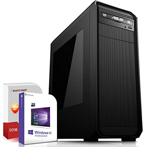 Multimedia Office PC Intel Core i5 9600K 6x4.6GHz 8.Generation |ASUS Board|16GB DDR4|256GB SSD u. 500GB HDD|Intel UHD 630 Grafik 4K DVI|DVD-RW|USB 3.1|SATA3|Windows 10 Pro|3 Jahre Garantie