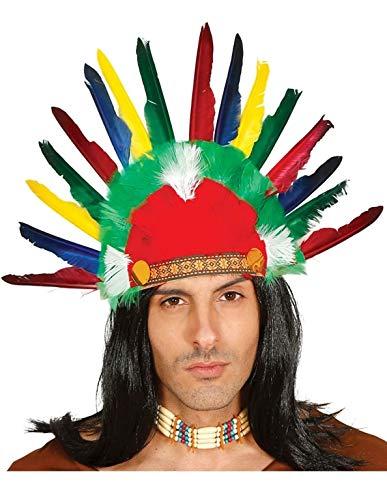 PICCOLI MONELLI Indian Federn Karneval Indian Kopfschmuck Kinder ()