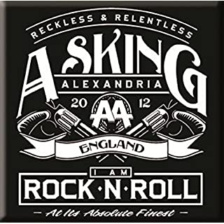 Asking Alexandria band logo Rock n Roll Nue 76mm x 76mm Kühlschrankmagnet