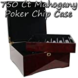 Brybelly 750-ct. Glossy Wooden Mahogany Poker Chip Case by Brybelly
