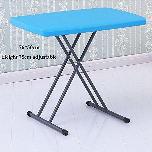 b9fd829596144 XIA Table pliante Table Simple Ménage Petite Table Table d'Apprentissage  pour Enfants Bureau Bleu