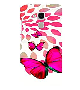 PrintVisa Stylish Cool Girl Butterfly 3D Hard Polycarbonate Designer Back Case Cover for HONOR 5C