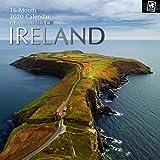 2020 Wandkalender - Küsten von Kalender Irland, 30 x 30 Zentimeter Monatsansicht auf Englisch, 16-Monat, Reise und Strand-Bestimmungsort Thema, Enthalten 180 Anzeigen-Aufkleber