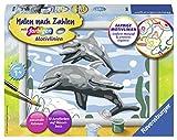 Ravensburger Malen nach Zahlen 28468 28468-Freundliche Delfine-Malen nach Zahlen
