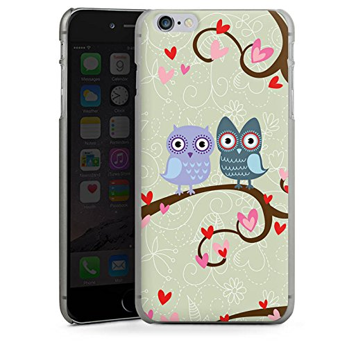 Apple iPhone X Silikon Hülle Case Schutzhülle Eulen Muster Dating Owls Hard Case anthrazit-klar