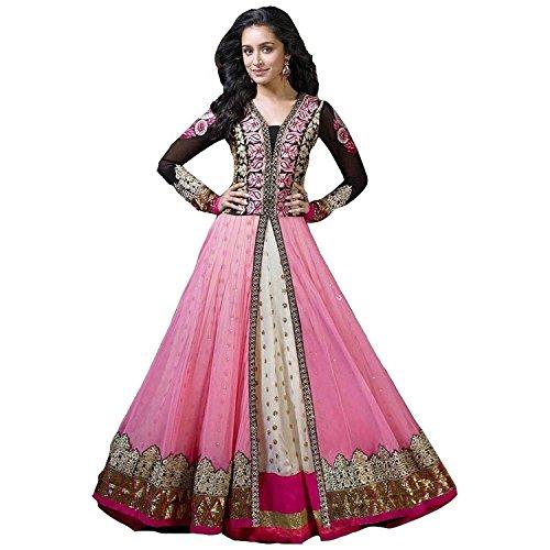 Stylelok Women Georgette Salwar Suit Set (Sl 71207 _Pink _Free Size)