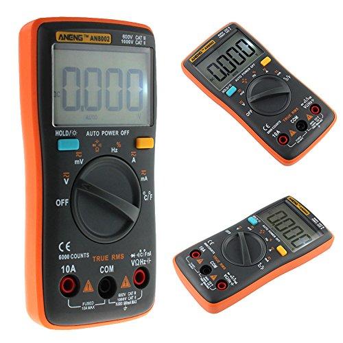 Domybest Multímetro Digital AN8002 6000 Cuenta el Probador de la temperatura del amperímetro de AC / DC