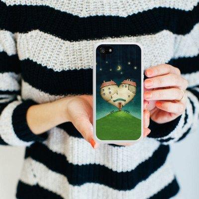 Apple iPhone 5 Housse étui coque protection Amour Amour C½ur Housse en silicone blanc