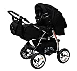 Kinderwagen King Cosmic Black & Cosmic Black mit Winterfußsack Fleece