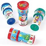 Caleidoscopi natalizi perfetti da mettere nella calza per bambini (confezione da 6)