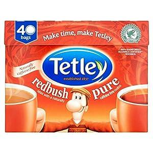 Tetley - Sachets de thé Pure Redbush - rooibos pur - lot de 4 boîtes de 40 sachets
