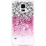 JIAXIUFEN Neue Modelle TPU Silikon Schutz Handy Hülle Case Tasche Etui Bumper für Samsung Galaxy S5 -Pink Gray White Drops Style