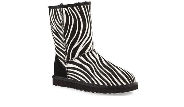 d29d09066d9 UGG Womens Classic Short Exotic Zebra Print Ankle Boots 3.5: Amazon ...