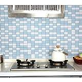 Azulejos Adhesivos Cocina 60X300Cm Backsplash De La Cocina Azulejo Anti-Aceite Pvc Papel Tapiz Decoración Para El Hogar Papel Tapiz Autoadhesivo Para Baño Decoración Pelar Y Pegar Papel De Pared