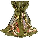 2018 l'automne Hiver Foulard Rovinci Femmes Dames Mode Imprimé Doux Châle Des Enveloppements Longue Écharpe Décontractée Sauvage Écharpes étole (Armée verte10)