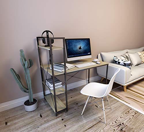 WOLTU TSB01hei Schreibtisch Computertisch Büromöbel PC Tisch Bürotisch Arbeitstisch aus Holz und