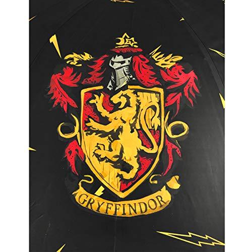51O8YIZsxwL - Paraguas Harry Potter Casas Hogwarts Slytherin Ravenclaw Hufflepuff Gryffindor Paraguas Automático Infantil Niño Niña 80cm
