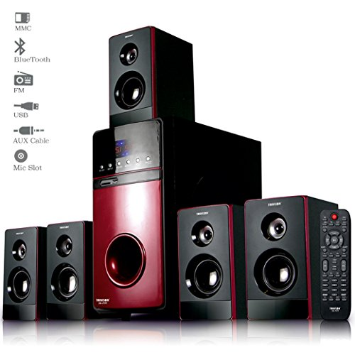 Truvison SE-7777 20000 Watts 5.1 Multimedia Speaker System USB FM AUX MMC Playback Support Bluetooth Feature Superior Sound Clarity  available at amazon for Rs.6999
