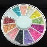 Generic 3mm Semicircle Colorful Pearl Nail Art Decorations #02107910
