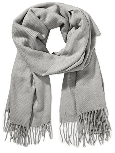 PIECES, Unisex Schal KIAL LONG SCARF NOOS, Grau(Light Grey Melange), One size