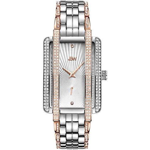 JBW Mink Reloj de Mujer Diamante Cuarzo Correa de Acero Doble Tono J6358D