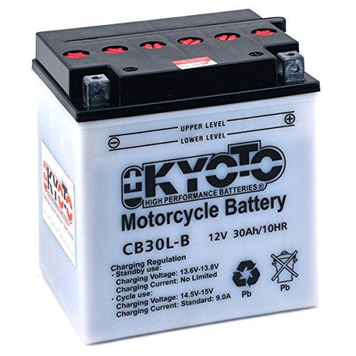 Batterie Moto KYOTO Yb30l-b L 168mm W 132mm H 176mm 12v 30ah Acide 1,8l