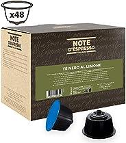 Note d'Espresso Black Lemon Tea Capsules Exclusively Compatible with Nescafé* and Dolce Gusto* capsule machines 2.5g x 48 Ca