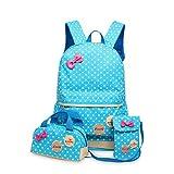 Children Schoolbags for Girls Primary School Book Bag Children School Bags Printing Backpack Orthopedic Backpack Sky Blue