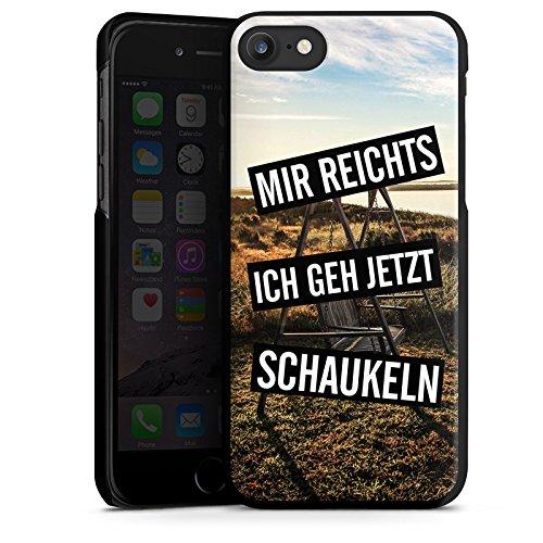 Apple iPhone X Silikon Hülle Case Schutzhülle Humor Leben Kindisch Hard Case schwarz